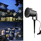 Christmas Projector Lights Moving Snowflakes Christmas Decoration Lighting LED Landscape Projector Light Waterproof Outdoor Indoor for Christmas Party Holiday Halloween Wedding Valentine Garden