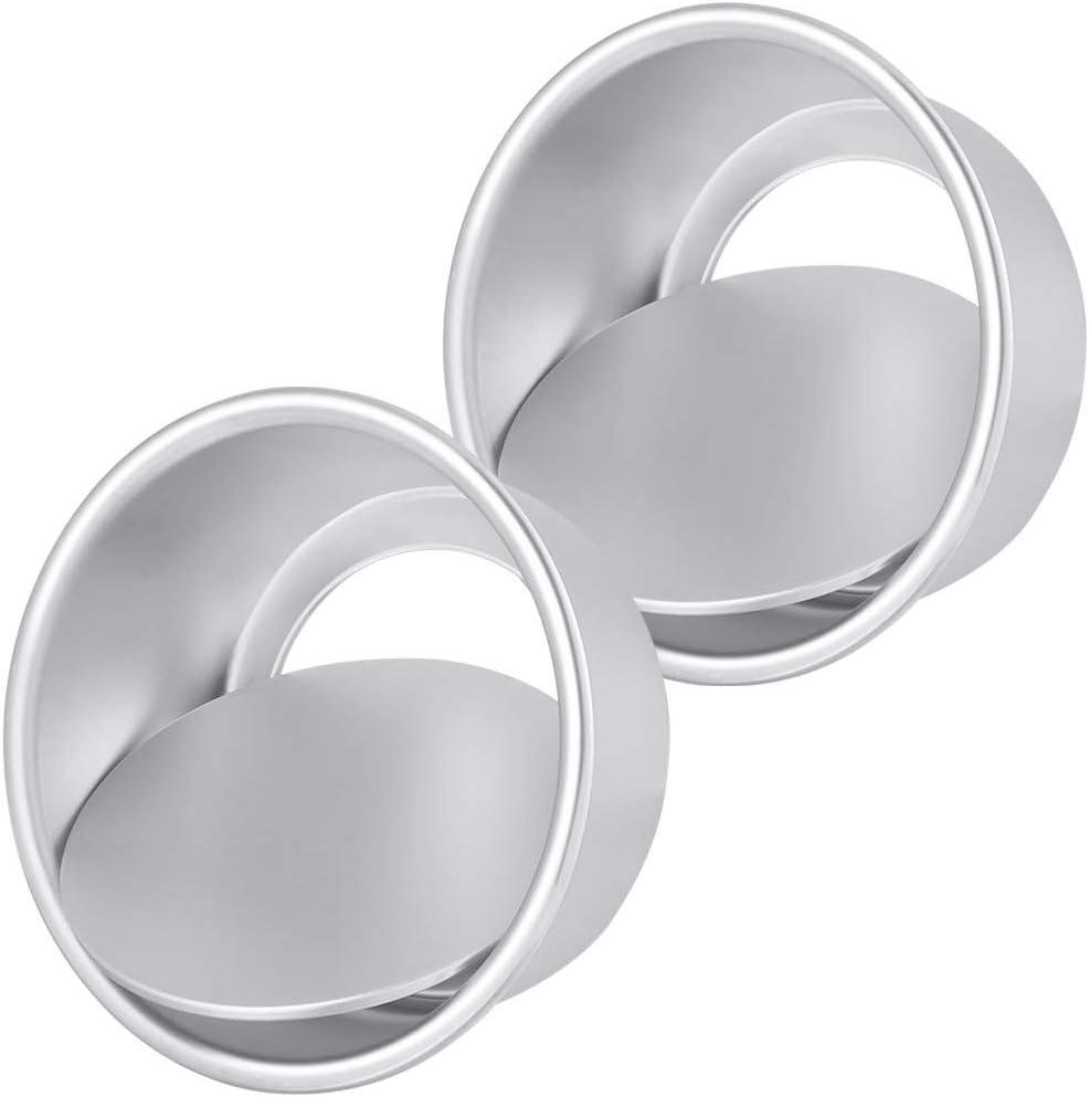 SUSSURRO Lot de 2 moules /à g/âteau ronds avec base Loose Round Cake Tin et anti-adh/ésif 6 pouces pour g/âteaux