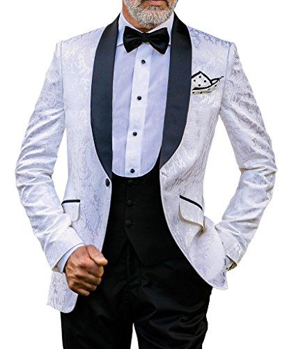 Suit Me Hommes 3 pi¨¨ces ¨¦charpe Revees vestes Partie Suit Tuxedo Suit Suit gilet pantalon