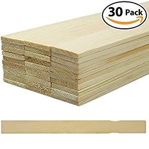 Pro Project Supplys Pro-Grade 12 Paint Stir Sticks 30 Pack. Splinter-Free, Sanded Wood Mixer is Great For Mixing Gallon Pails of Glue, Epoxy & Body Filler. Bulk Painting Stirrer, Accessory & Tool