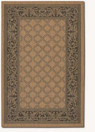 Couristan Cocoa Garden Lattice (Couristan 1016/2000 Recife Garden Lattice Cocoa/Black Rug, 8-Feet 6-Inch by 13-Feet)