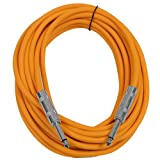 "Seismic Audio - SASTSX-25 - 25 Foot TS 1/4"" Guitar, Instrument, or Patch Cable Orange"
