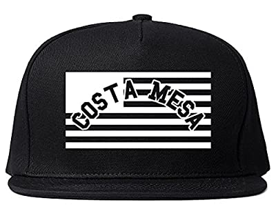 City Of Costa Mesa with United States Flag Snapback Hat Cap