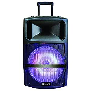 supersonic iqsound wireless bluetooth portable dj speaker system home audio theater. Black Bedroom Furniture Sets. Home Design Ideas
