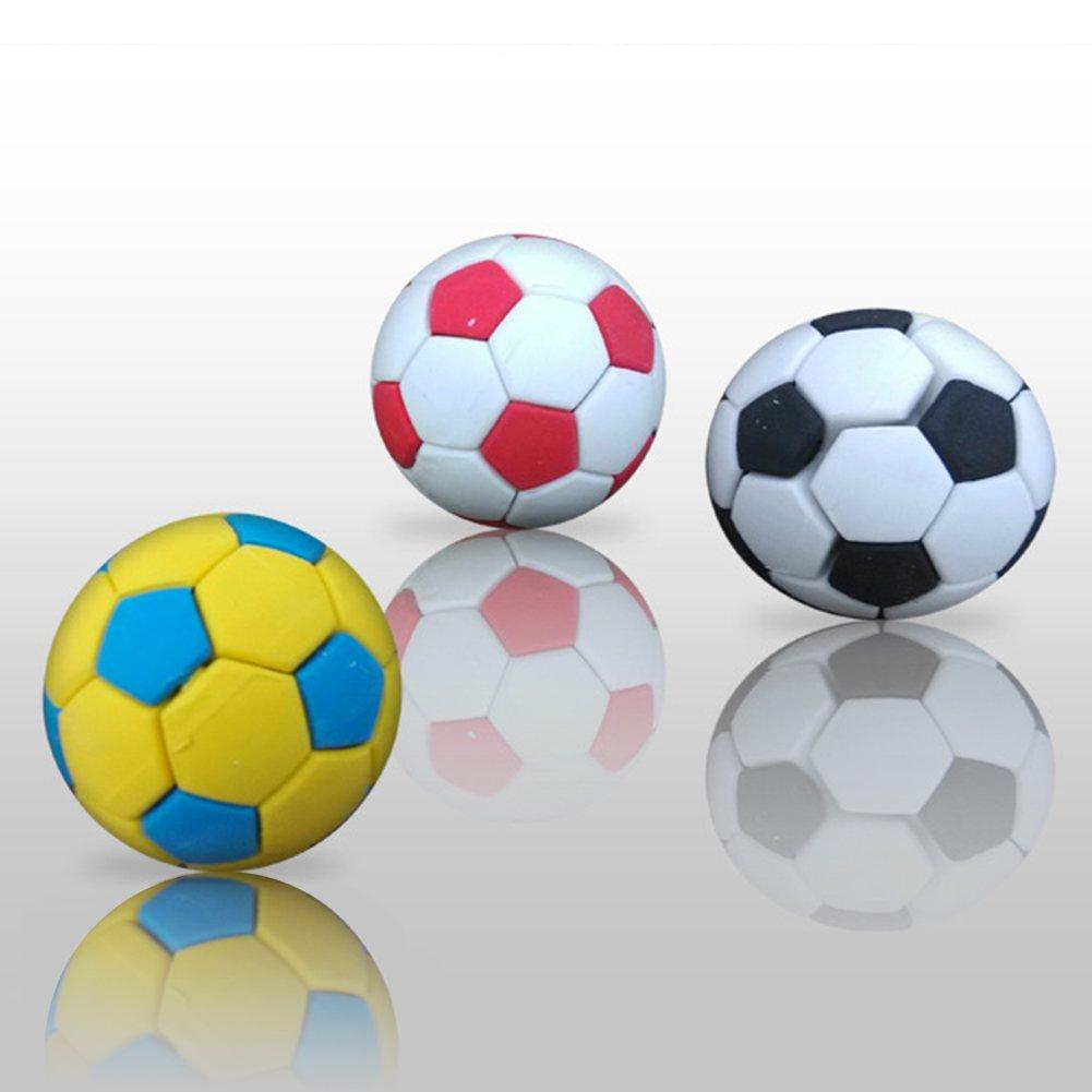 Random Color 3Pcs Football Soccer Rubber Eraser Creative Stationery School Supplies Gift Kids zsjhtc by zsjhtc (Image #2)
