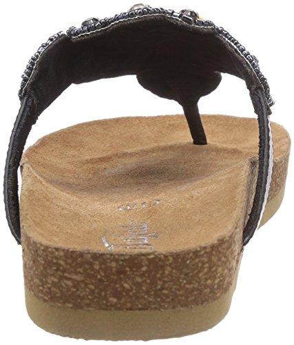 Buffalo 5201 GOAT KID - Sandalias de material sintético para mujer negro - Schwarz (BLACK 01)