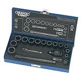 Draper Expert 54714 18-Piece 3/8-Inch Square Drive Impact Socket Set by Draper