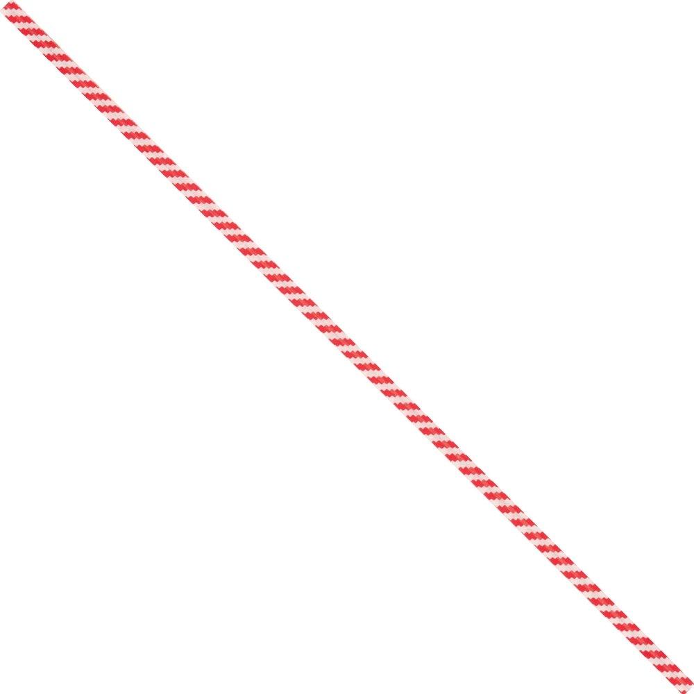 BOX USA BPBT7CS Paper Twist Ties, 7'' x 5/32'', Red/White (Pack of 2000)