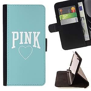 Momo Phone Case / Flip Funda de Cuero Case Cover - Blue Heart texte Amour Propre - Motorola Moto E ( 1st Generation )