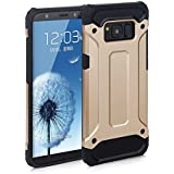 Galaxy S7 Edge Case, Rugged Tough Dual Layer Armor Case Samsung Galaxy S7 Edge Protective Case Shockproof Case Cover for Galaxy S7 Edge [Heavy Duty] [Slim Hard Case] BY AMPLE® (GOLD)