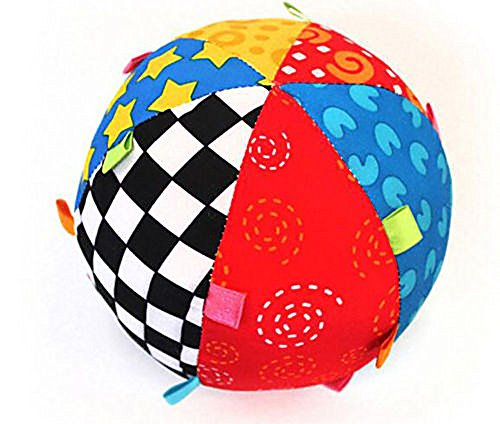 Colorful Ball Bell Children Baby Toy Hand Grasp Ball Cloth Soft Sense Education