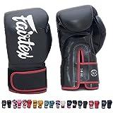 Fairtex BGV14 Microfibre Boxing Gloves Muay Thai Boxing, MMA, Kickboxing,Training Boxing Equipment, Gear for Martial Art (Black, 8 oz)