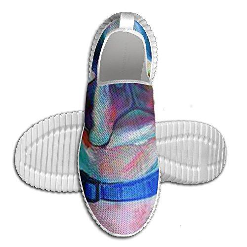 Boston Bulldog Training Running Shoes Print Unisex Ventilation Sport Loafers For Mam White 5BkJxszV