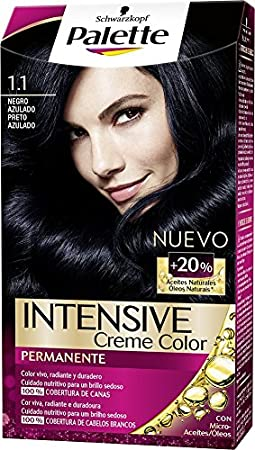 Palette Intense Color Cream Coloración Semipermanente, Tono 1.1 Negro Azulado - 115 ml