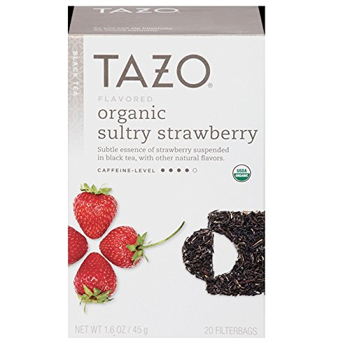 - TAZO Organic Sultry Strawberry, 20 CT