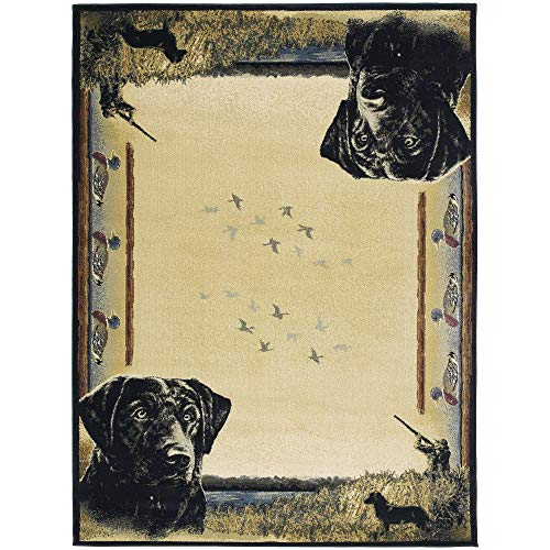 """Westfield Home Ridgeland Hunter's Dog Multicolor Polypropylene Accent Rug - 3'11"""" x 5'3"""" from by Westfield Home"""