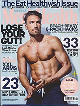 f36a2a22ab5 Men s Health UK Magazine August 2018  Men s Health  Amazon.com  Books