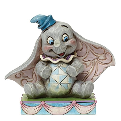 Disney Traditions by Jim Shore Dumbo Personality Pose Stone Resin Figurine, - Circus Figurine Elephant