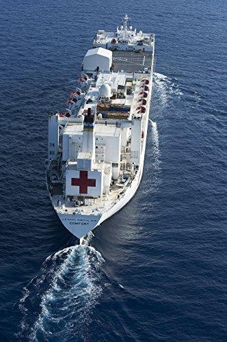 - Posterazzi The Military Sealift Command Hospital Ship USNS Comfort Poster Print, (22 x 34)