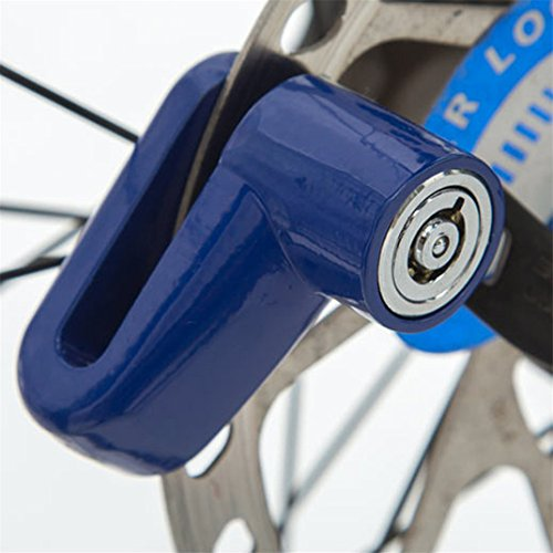 Ecosin Security Anti Theft Heavy Duty Motorcycle Bicycle Moped Scooter Disk Rotor Lock (Blue)