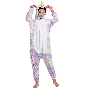 Pijama Animal Unicornio Entero/Pijama Animal Panda Entero para Adultos Pijama Mono Animal para Mujer Hombre Disfraz para Navidad con Capucha Invierno ...