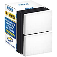 Complete 2 Premium True HEPA Replacement Filter Pack Including 4 Activated Carbon Pre Filters Precut for HPA200 compatible with HW Air Purifier 200, 202, 204, 250B and Filter R by VEVA