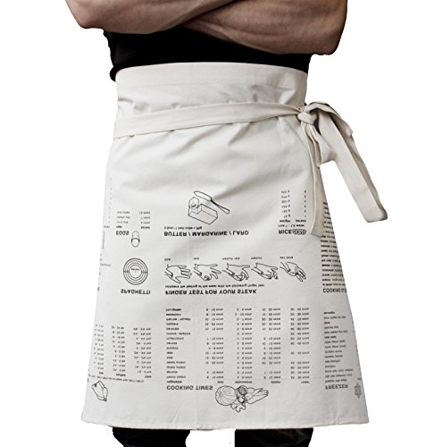 (SUCK UK SK APRONGUIDE1 WST Cooking Apron Guide Waist Multicolor)