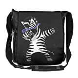 Zebra Hip Hop Fashion Print Diagonal Single Shoulder Bag