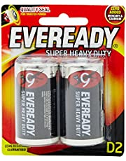 Eveready Super Heavy Duty 1250BP-2 D, 2ct
