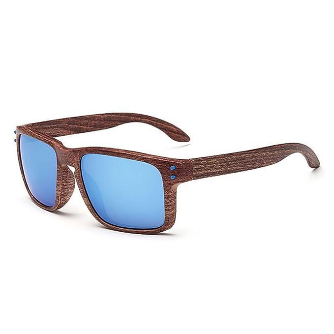 Damen Herren Mode Holz Print Polarisierte Sonnenbrille Sport Wie Bambus Aussehen Sonnenbrillen Spiegel Linsen D7RAVn5