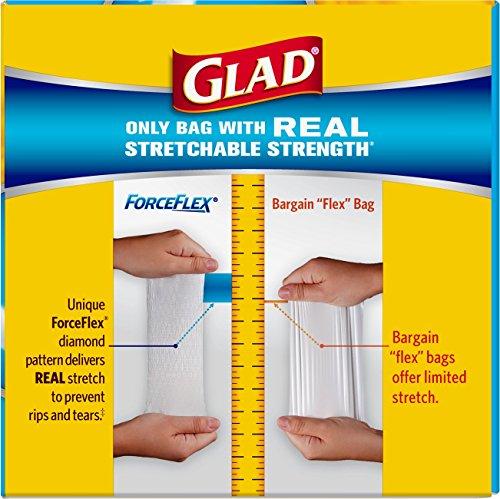 012587703205 - Glad ForceFlex OdorShield Tall Kitchen Drawstring Trash Bags, Fresh Clean, 13 Gallon, 34 Count carousel main 3