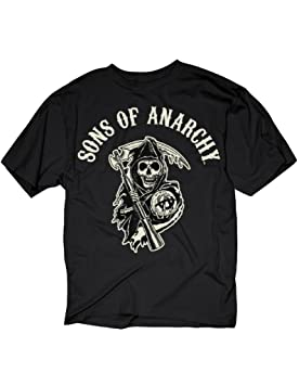 Toy Zany Sons of Anarchy SOA Logo Hombres Black Camiseta ...