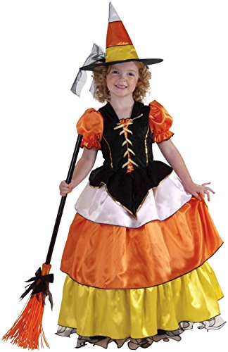 Forum Novelties Little Designer Collection Candy Corn Witch Child Costume, Large -