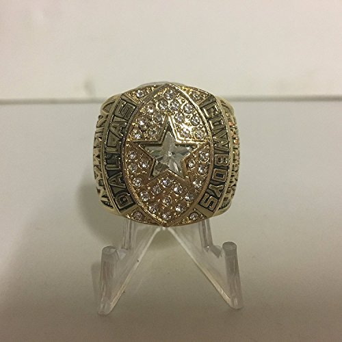 1992 Troy Aikman Dallas Cowboys High Quality Replica Super Bowl XXVII Ring-Gold Colored, Colored League Logo Size 10.5