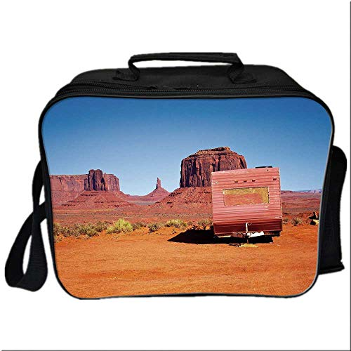 - Primitive Country Decor Picnic Bag Cooler Bag,Abandoned Caravan Monument Valley Arizona Desert Arid Country Decorative for Kids Boys Girls,10.6