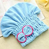 Swiftswan Hair Towel Wrap Turban Microfiber Drying Bath Shower Head Towel with Buttons,Quick Magic Dryer,Dry Hair Hat,Wrapped Bath Cap