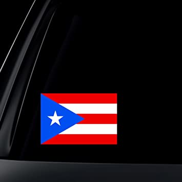 Puerto rico flag car decal sticker