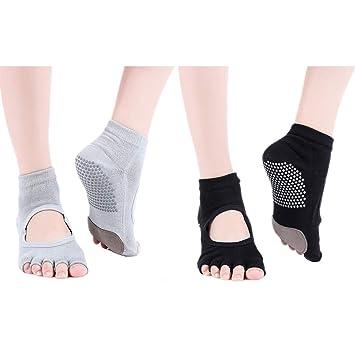 NANANA Calcetines Yoga para Mujer, Antideslizantes ...