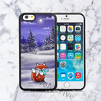 Amazon.com: Funda para iPhone de Invierno Fox y Moon ...
