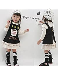 Norbi Little Girls Knee High Cotton Stripes School Stocking (2-7Y)