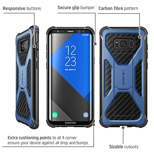 i-Blason Galaxy S8 Plus Case, Transformer [Kickstand] Samsung Galaxy S8 Plus 2017 Release [Heavy Duty] [Dual Layer] Combo Holster Cover case with [Locking Belt Swivel Clip]