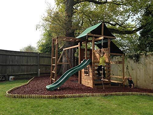 Kids Wooden Garden Climbing Frame Pressure Treated Playhouse Wave