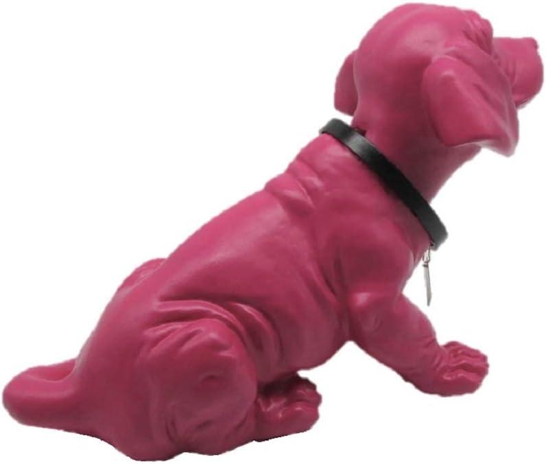 Pink, 29 cm Wackeldackel Figur mit Wackelkopf