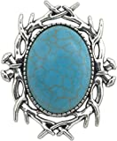 Unisex Brooch, Turquoise Magnesite Genuine Gemstone Brooch + FREE GIFT BAG
