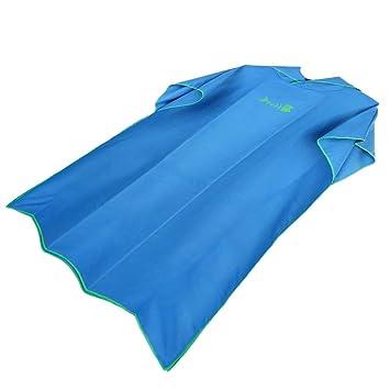 B Baosity Toalla de Poncho Surf con Capucha para Adultos Mujeres Hombre, Traje de Playa de Microfibra Bañador para Baño de Natación Ropa Piscina - Azul: ...