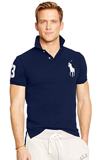 Polo Ralph Lauren Hombre Custom Fit Shirt Navy (Pony), color ...