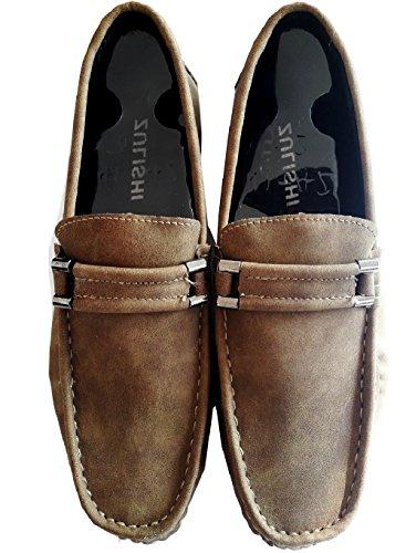 Fashion Shoes Inception Pro Infinite ® - Zapatos de Hombre Mocasines Beige Color - ZY-114