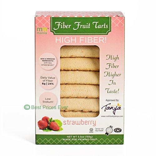 mm mania Kosher High Fiber Fruit Tarts Cookies, Strawberry, Fresh Baked Homestyle Fruit Tarts, 5.5 oz. Crescent Filled Pastries Best Seller Fruit Tarts, Kosher Yoshon, Compared: Hamantashen
