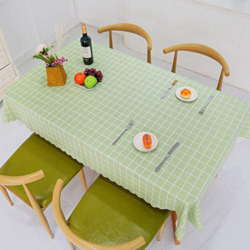 yiukh Waterproof, oilproof, Anti-scalding PVC Lattice Coffee Table, Home Dormitory Tablecloth, Small Fresh v5 60120CM