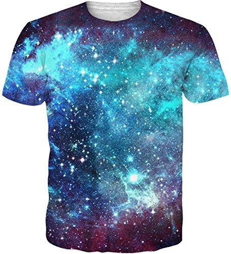 Idgreatim Unisex Funny 3D Printed Galaxy Space Short
